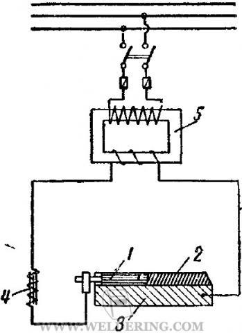 Схема включения лежачего электрода в цепь
