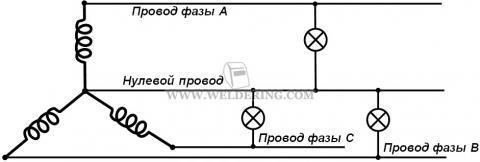Схема с нулевым проводом