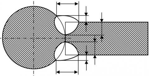Шов с указанием размеров конструктивных элементов