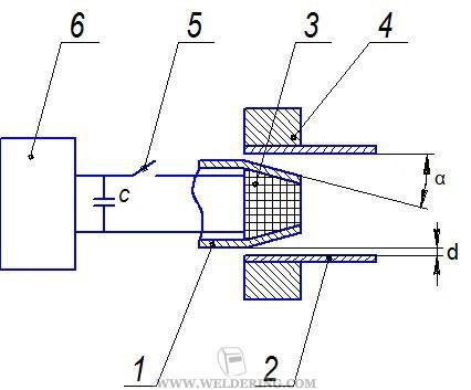 Схема магнитоимпульсной сваки