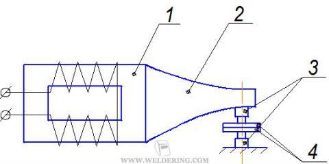 Схема установки для сварки ультразвуком