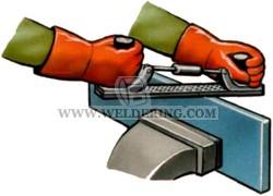 Зачистка абразивным инструментом